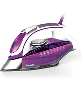 Breville VIN339 Press Xpress Steam Iron, 180g Steam Shot, Multi-Directional Ceramic Soleplate, 2800W