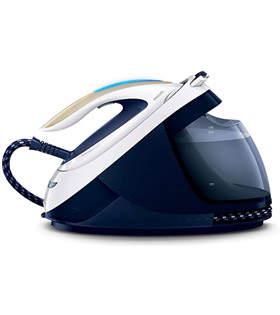 Tefal GV9071 Pro Express Care High Pressure Steam Generator, 2400 W, Black/Blue