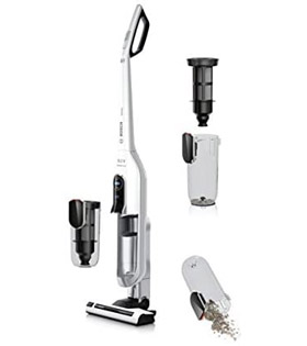 Bosch BCH625KTGB Athlet Upright Cordless Vacuum Cleaner, 0.9 Litre, White